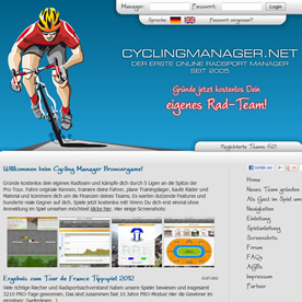 Cycling Manager Screenshot 1