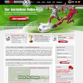Fussballmanager.de Screenshot 1