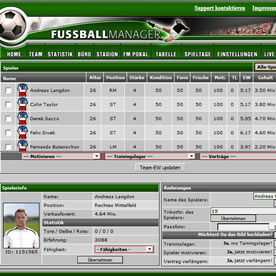 Fussballmanager.de Screenshot 3