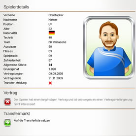 Fussball Manager Online Screenshot 2