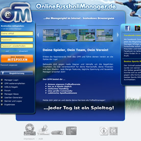 Online Fussball Manager Screenshot 1