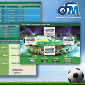 Online Fussball Manager Screenshot 2