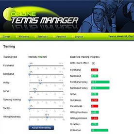 Online Tennis Manager Screenshot 3